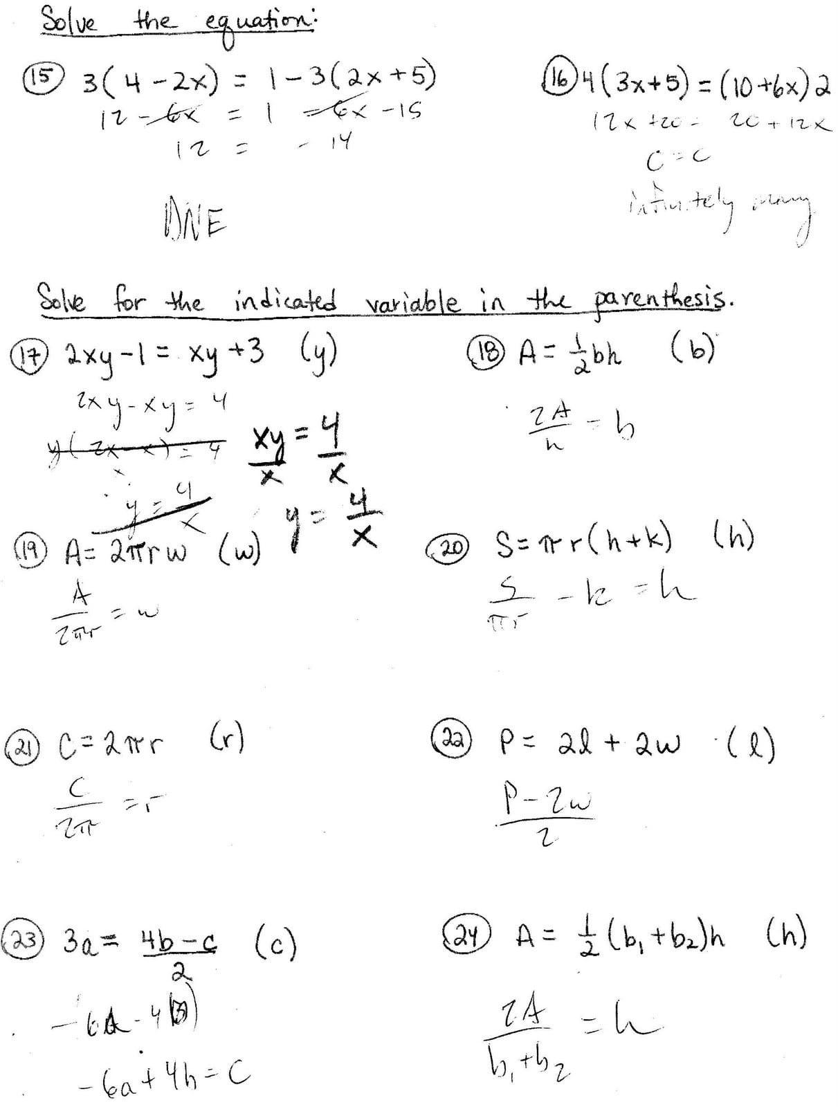 Literal Equations Worksheet Youtube Worksheet Literal