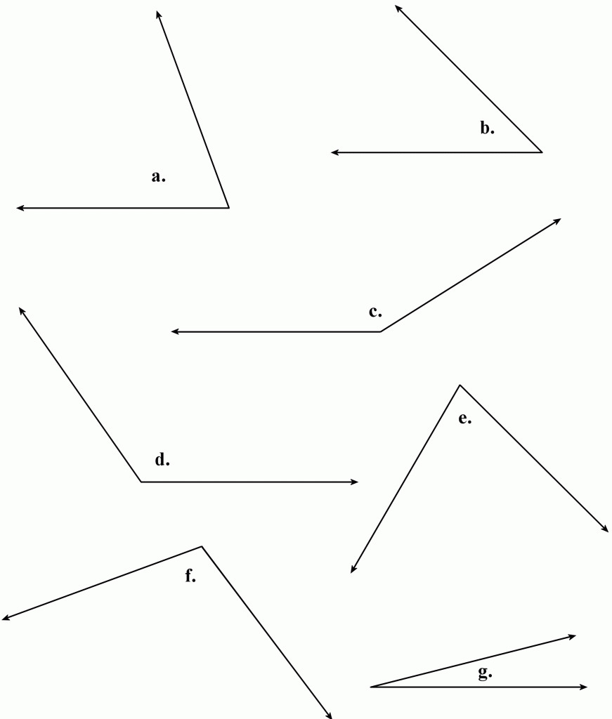 Find The Measure Of Each Angle Indicated Worksheet Answers ...