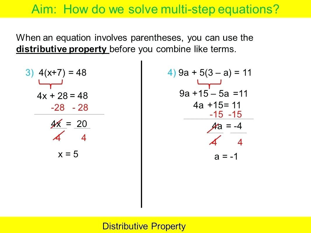 Multi Step Equation Solver Math Types Of Equations Solving ...