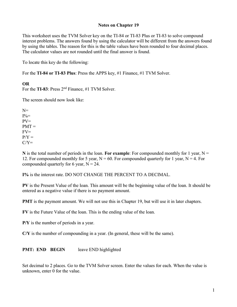 Simple And Compound Interest Practice Worksheet Answer Key ...