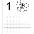 Number One Tracing And Coloring Worksheets 2  Crafts And