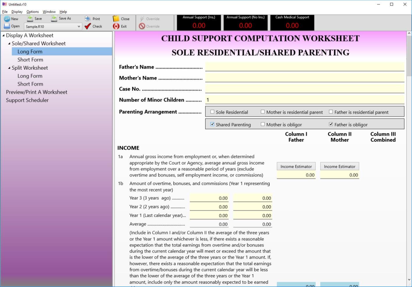 Child Support Guidelines Worksheet — db excel.com