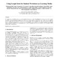 Pdf Using Google Form For Student Worksheet As Learning Media