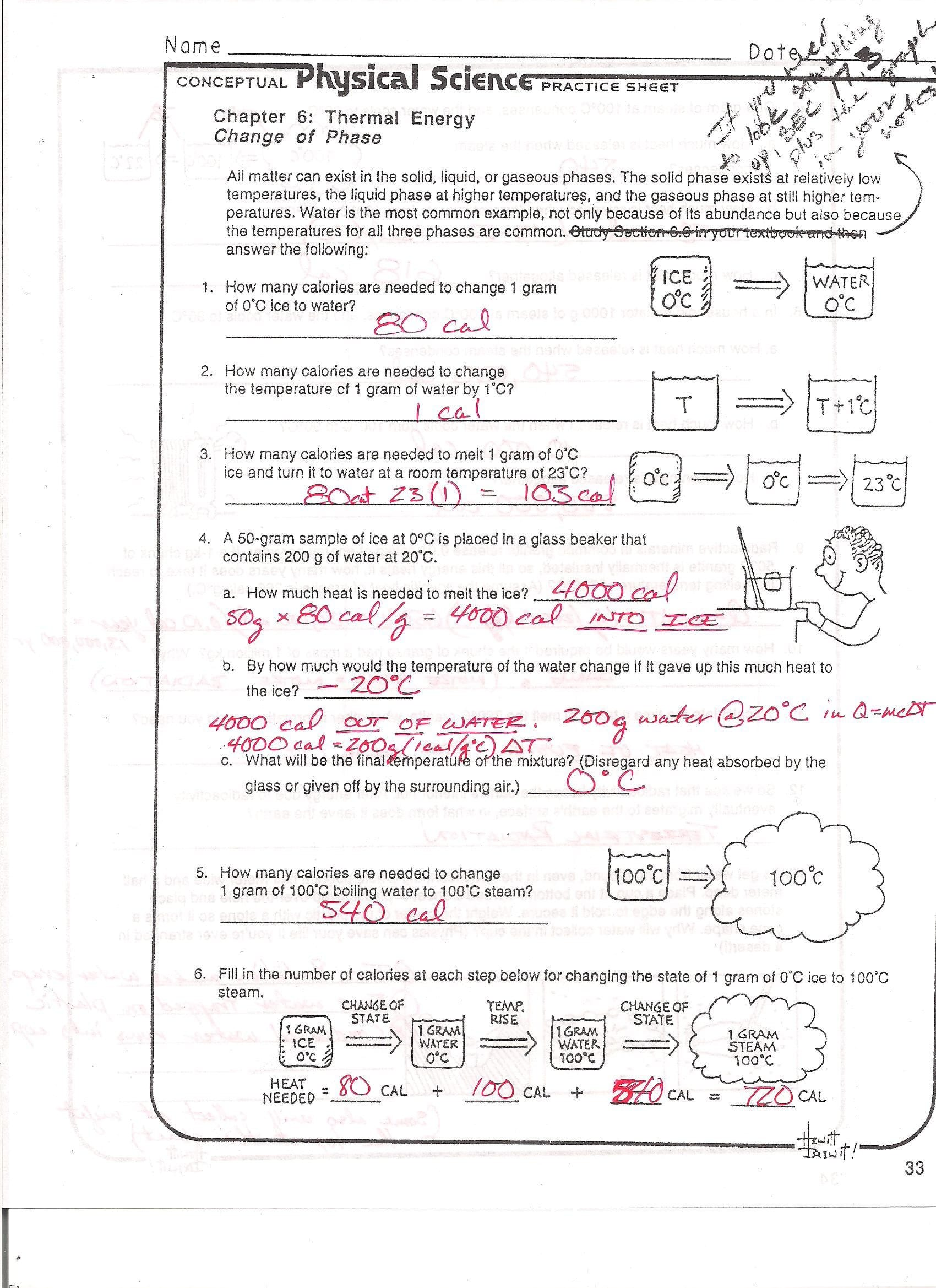 Phase Change Worksheet Answers Graphing Linear Equations ...