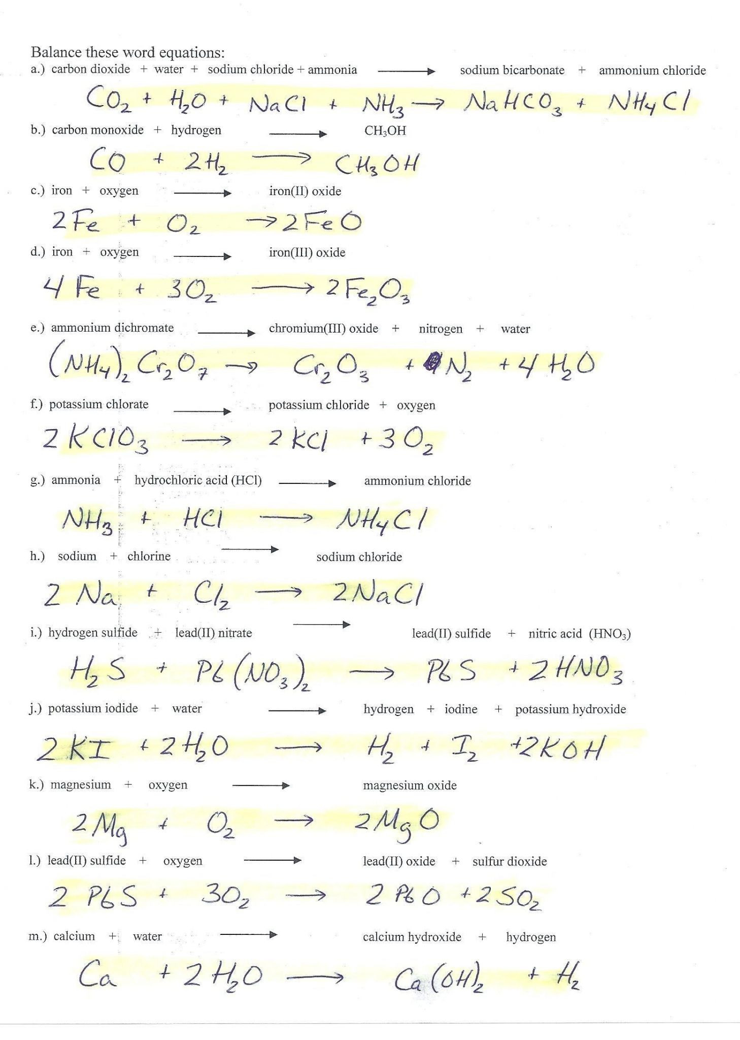 Physical Science If8767 Worksheet Answers — db excel.com