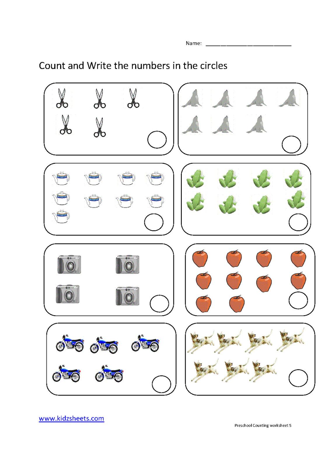Preschool Counting Worksheets Free Printable Download Them ...