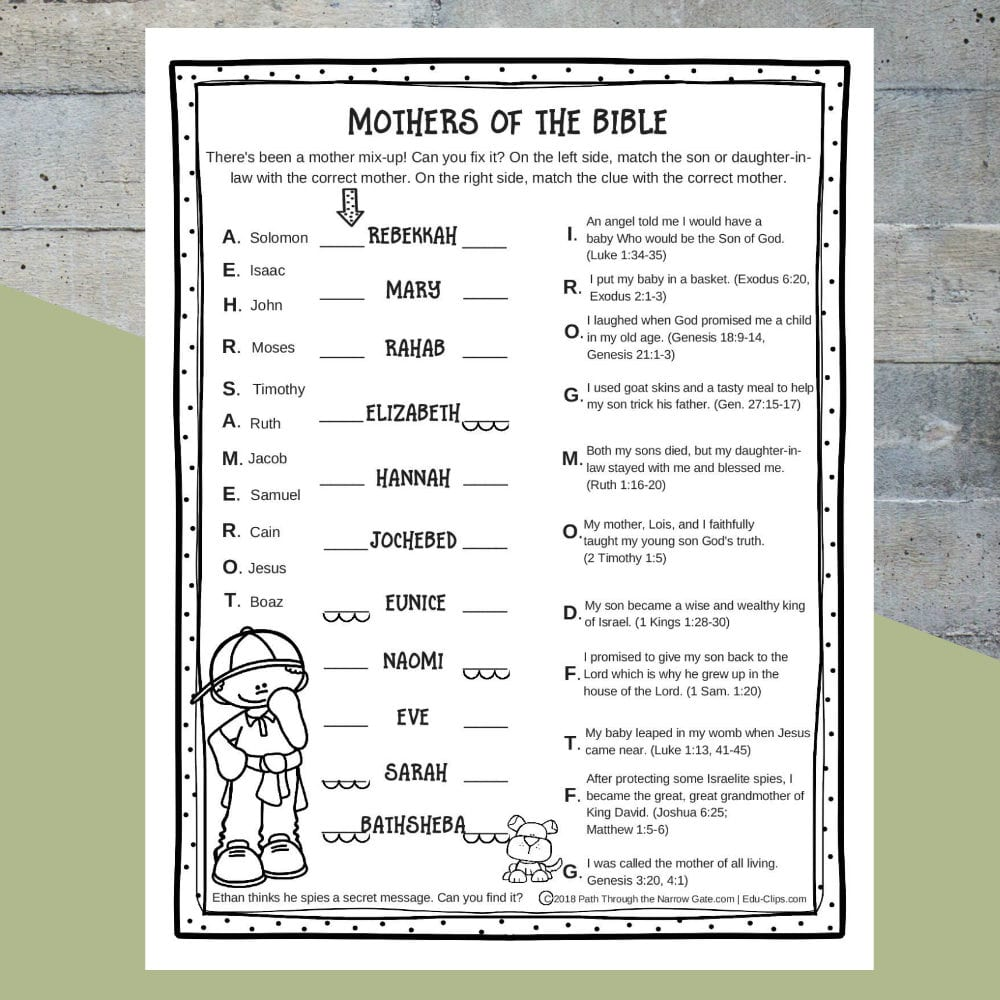 Printable Bible Activities Archives  Path Through The