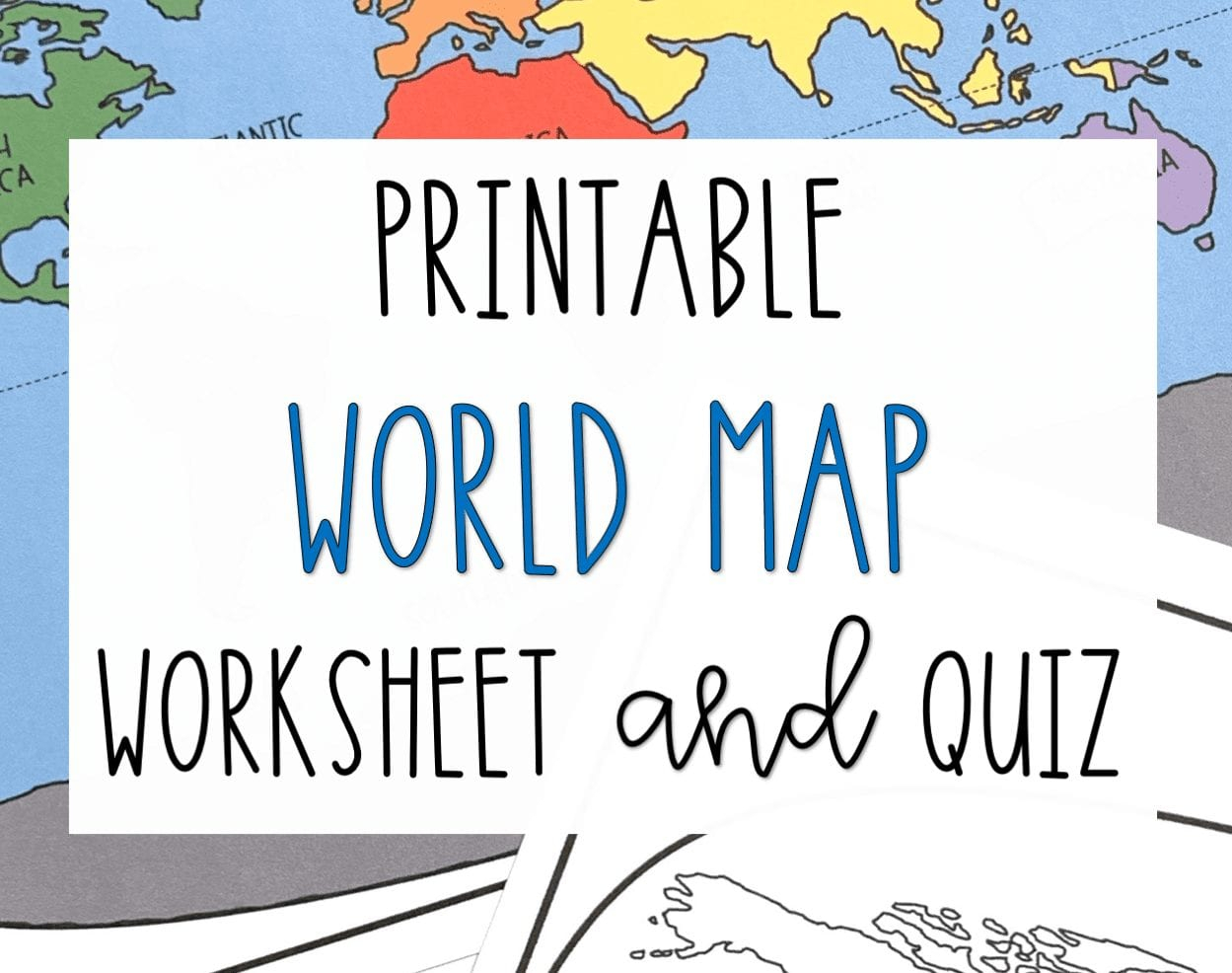 World Map Worksheet — db excel.com