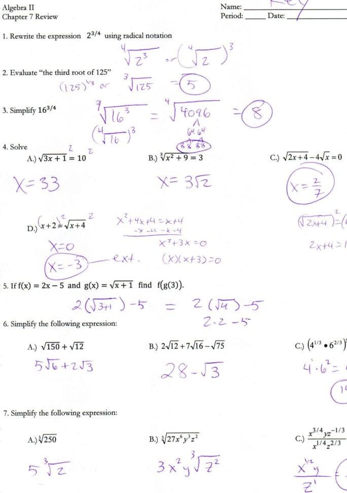 Quadratics Review Worksheet Answers   db excel.com