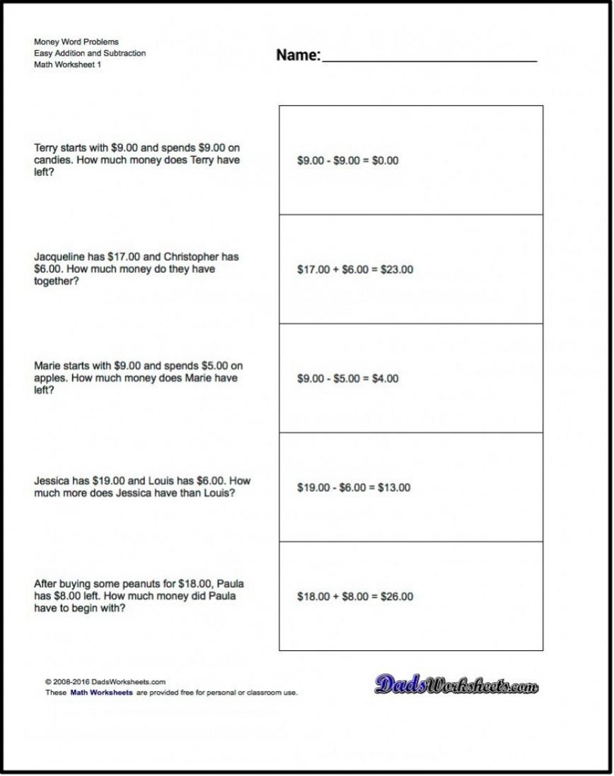 4Th Grade Math Word Problems Worksheets Pdf | db-excel.com