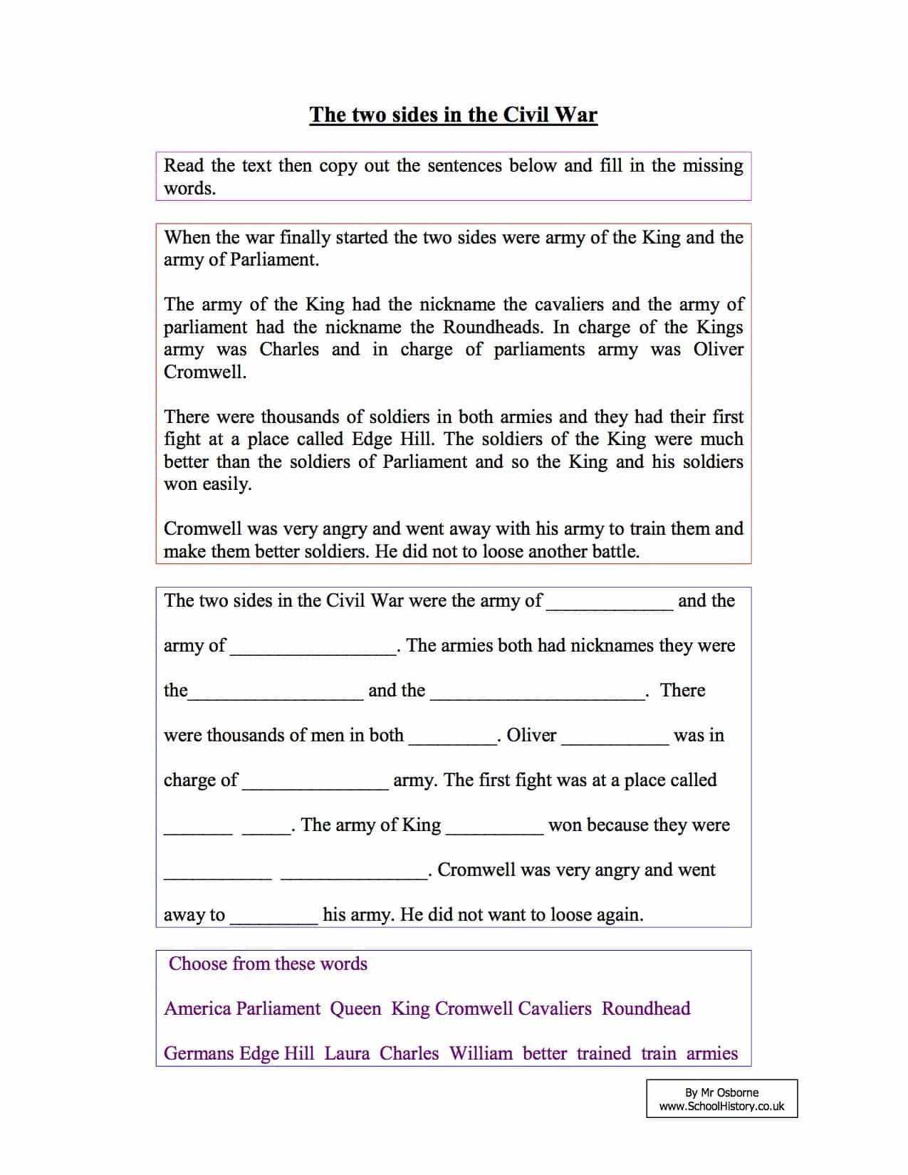Reading Comprehension Worksheets 7Th Grade Free Worksheet ...