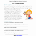 Reading Comprehension Worksheets For Th Grade Free Beautiful
