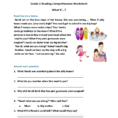 Reading Worksheets  Second Grade Reading Worksheets
