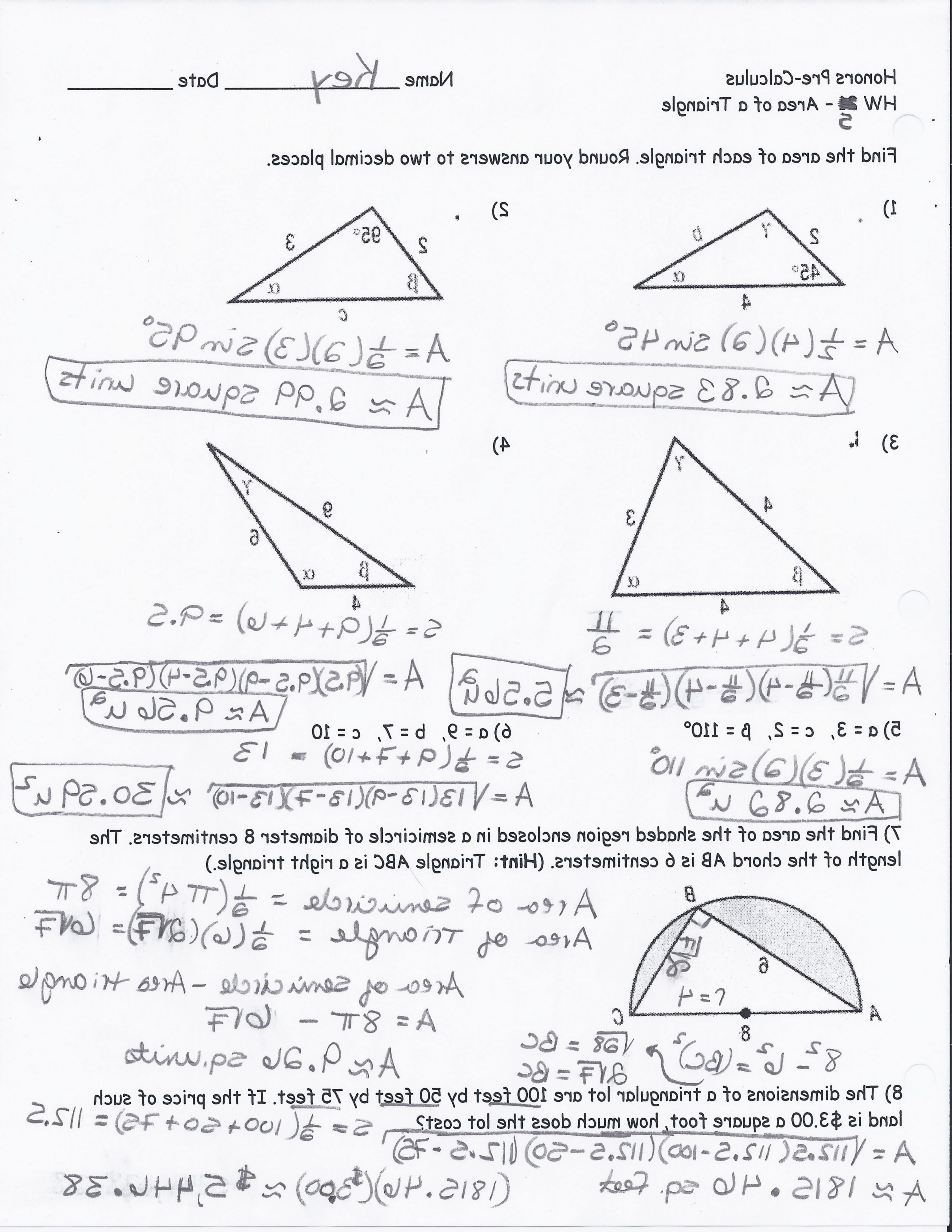 Trigonometry Worksheets With Answers | db-excel.com