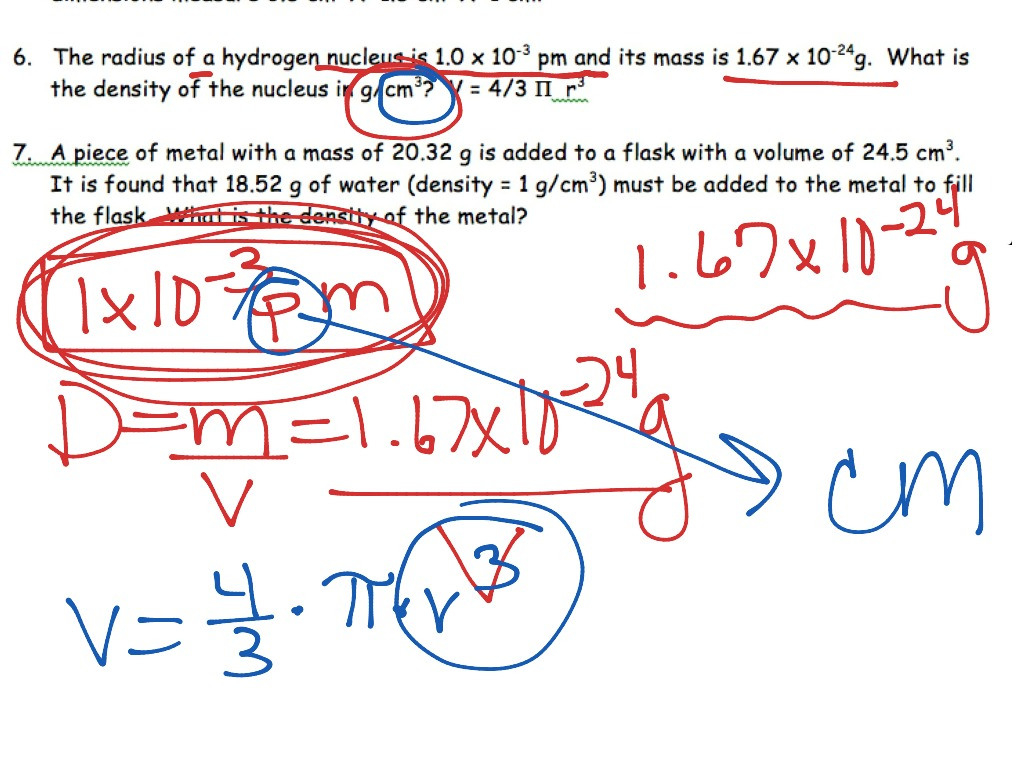 Science 8 Density Calculations Worksheet Netvs — db excel.com
