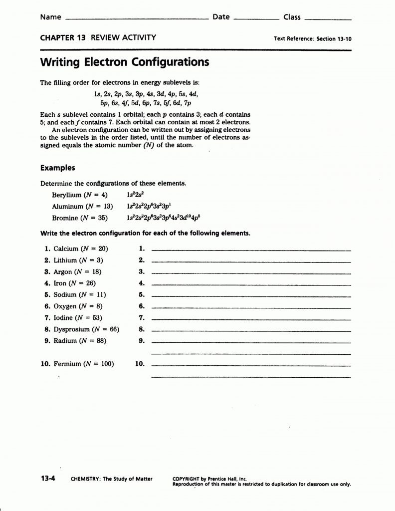 Section 1 Stability In Bonding Worksheet Answers