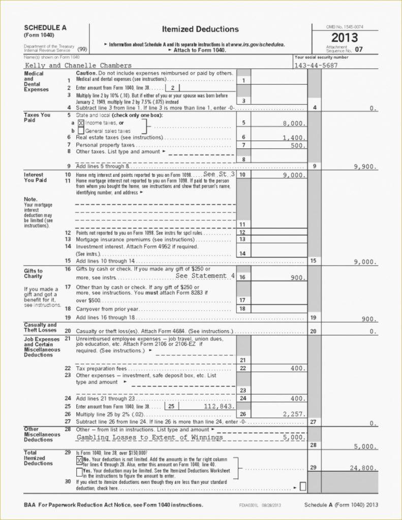 Self Employed Health Insurance Deduction Worksheet — db ...