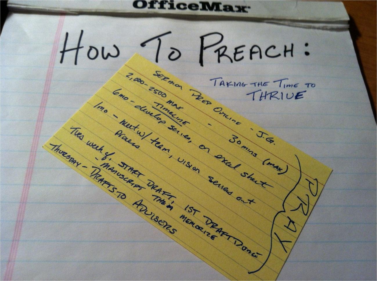 Sermon Preparation Worksheet — db excel.com