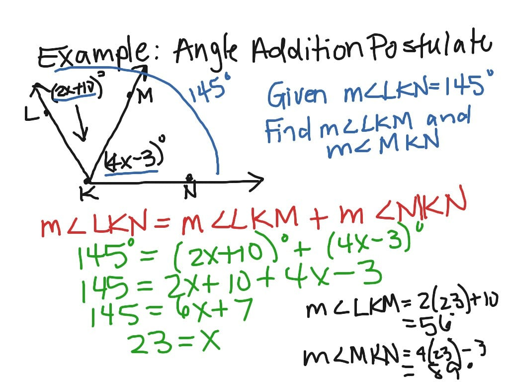 Showme Angle Addition Postulate | db-excel.com