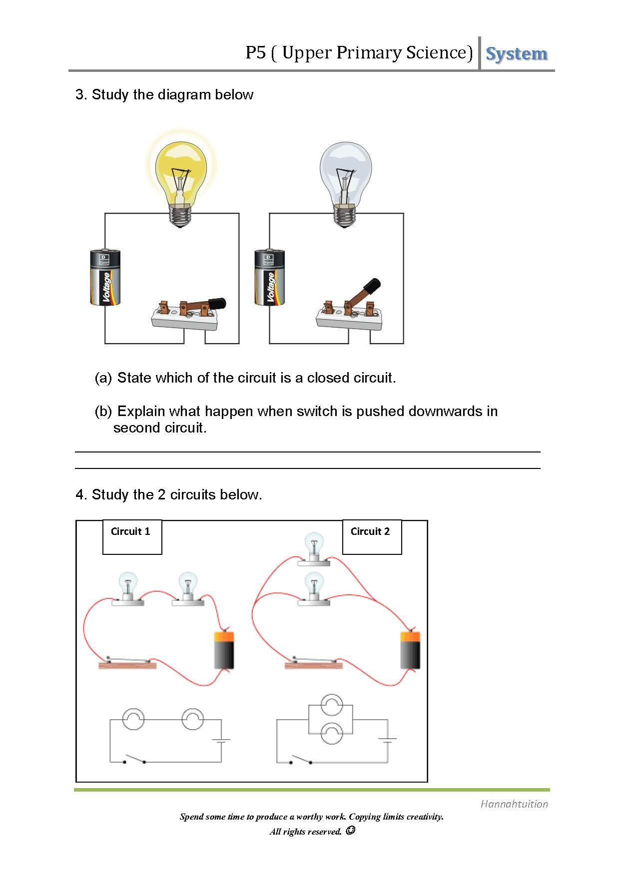 Electricity Clipart Simple Electric Circuit Electricity Manual Guide