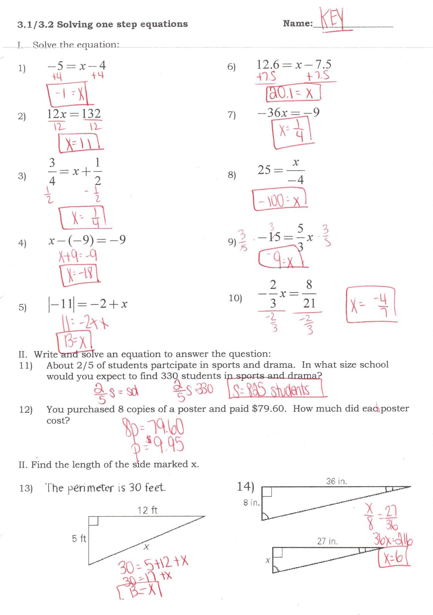 Solving Multi Step Inequalities Worksheet