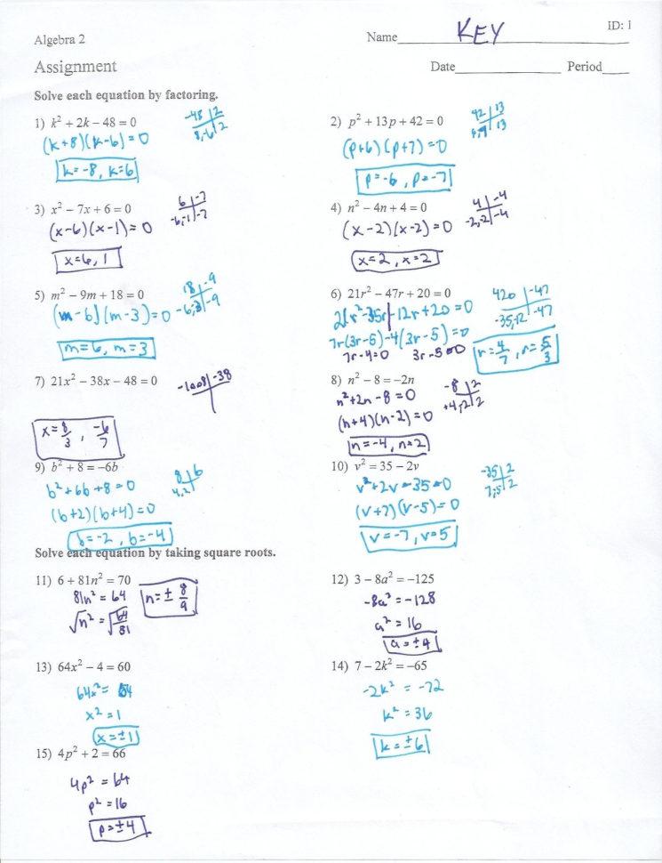 Factoring Quadratics Worksheet | db-excel.com