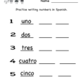 Spanish Worksheet  Free Kindergarten Learning Worksheet For