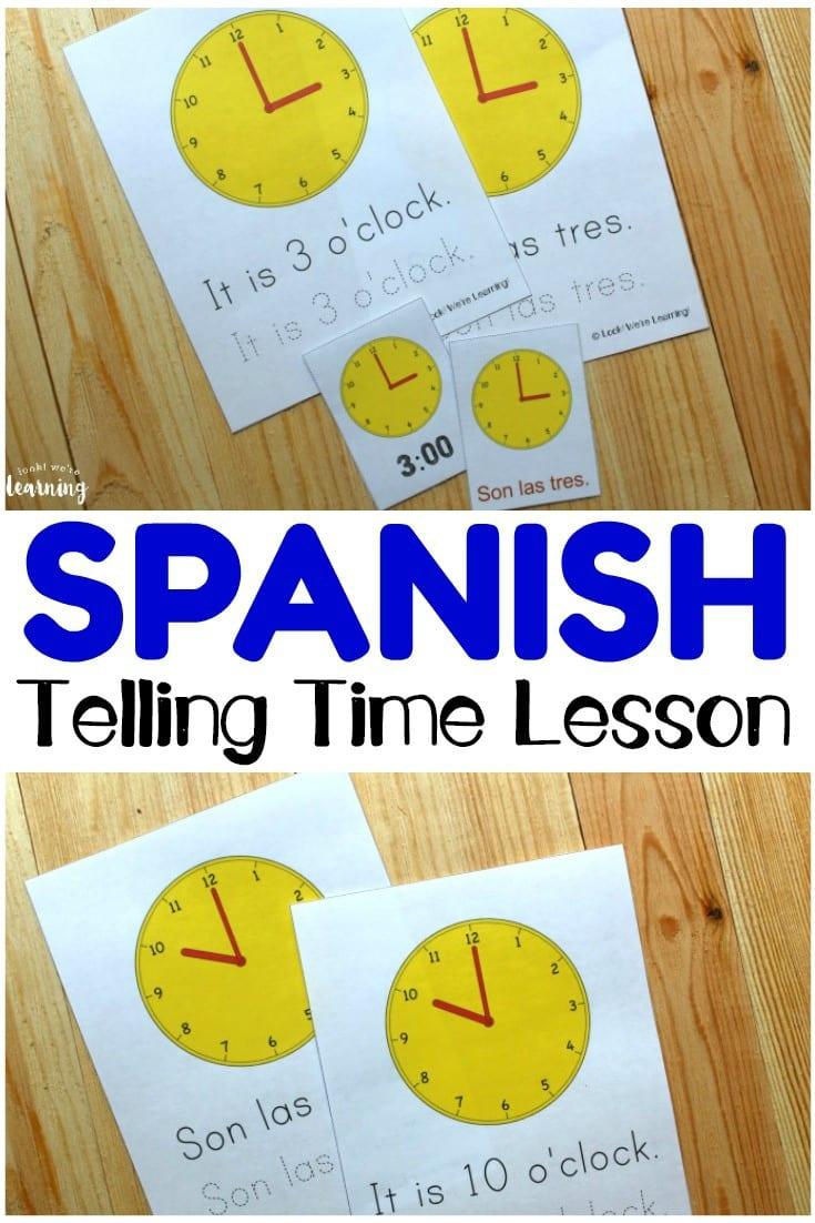 Spanish Worksheets For Kids Spanish Telling Time Worksheets