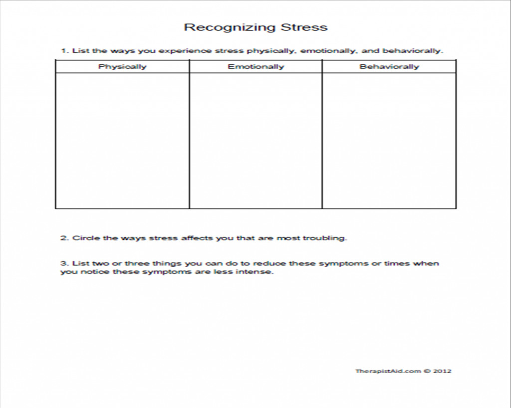 Substance Abuse Group Therapy Worksheets
