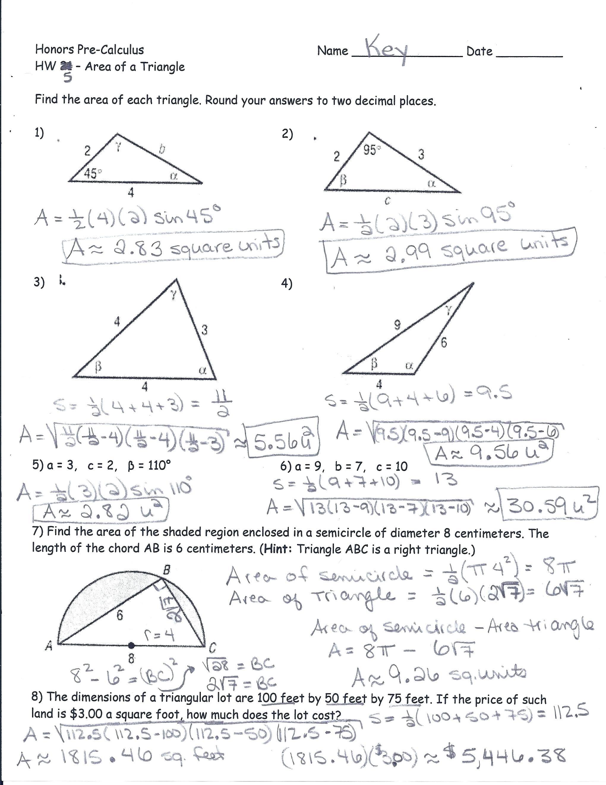 Trigonometric Ratios Worksheet Math Math Worksheets — db ...