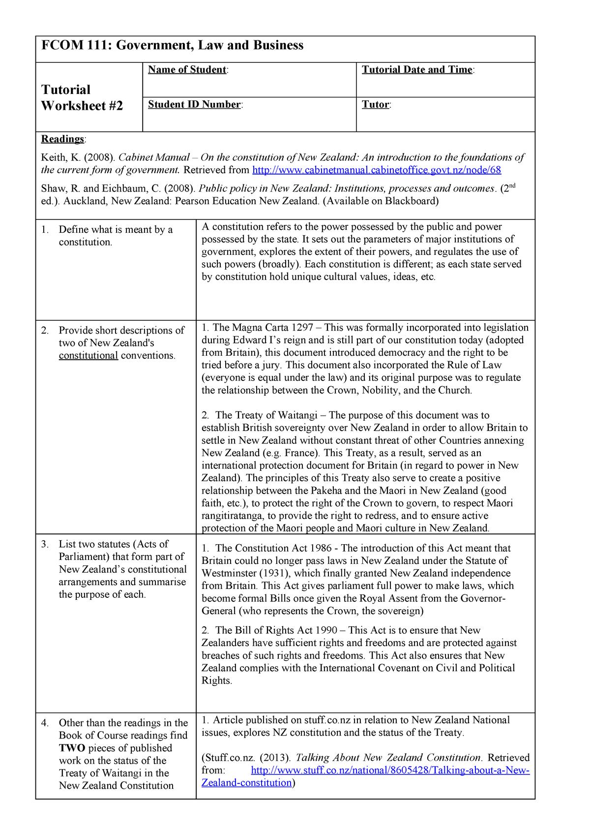 Magna Carta Worksheet — db excel.com