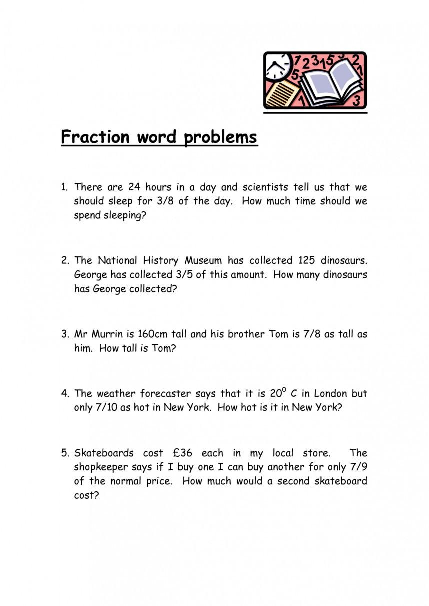 Fraction Word Problems 7Th Grade Worksheet — db excel.com