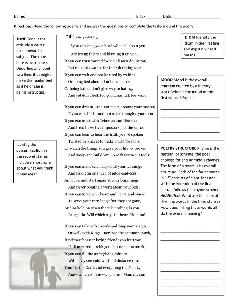 Identifying Tone And Mood Worksheet Answers — db excel.com