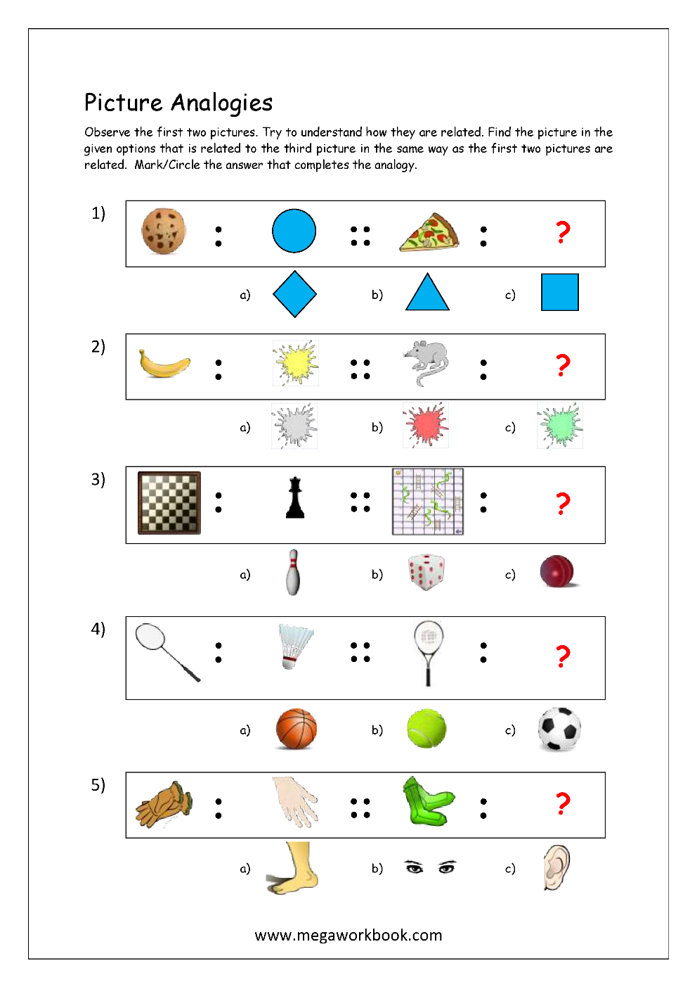 Analogy Worksheets For Middle School | db-excel.com