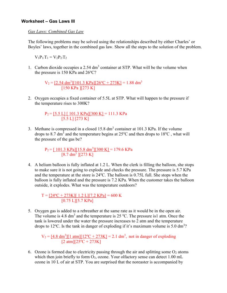Worksheet - Gas Laws Iii — db-excel.com