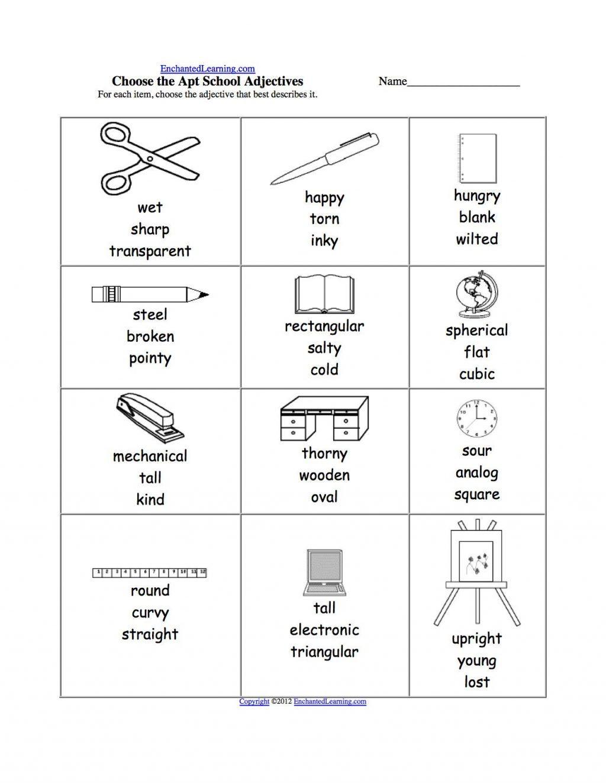 Worksheet Ideas  2Nd Grade Adjective Worksheets Worksheet