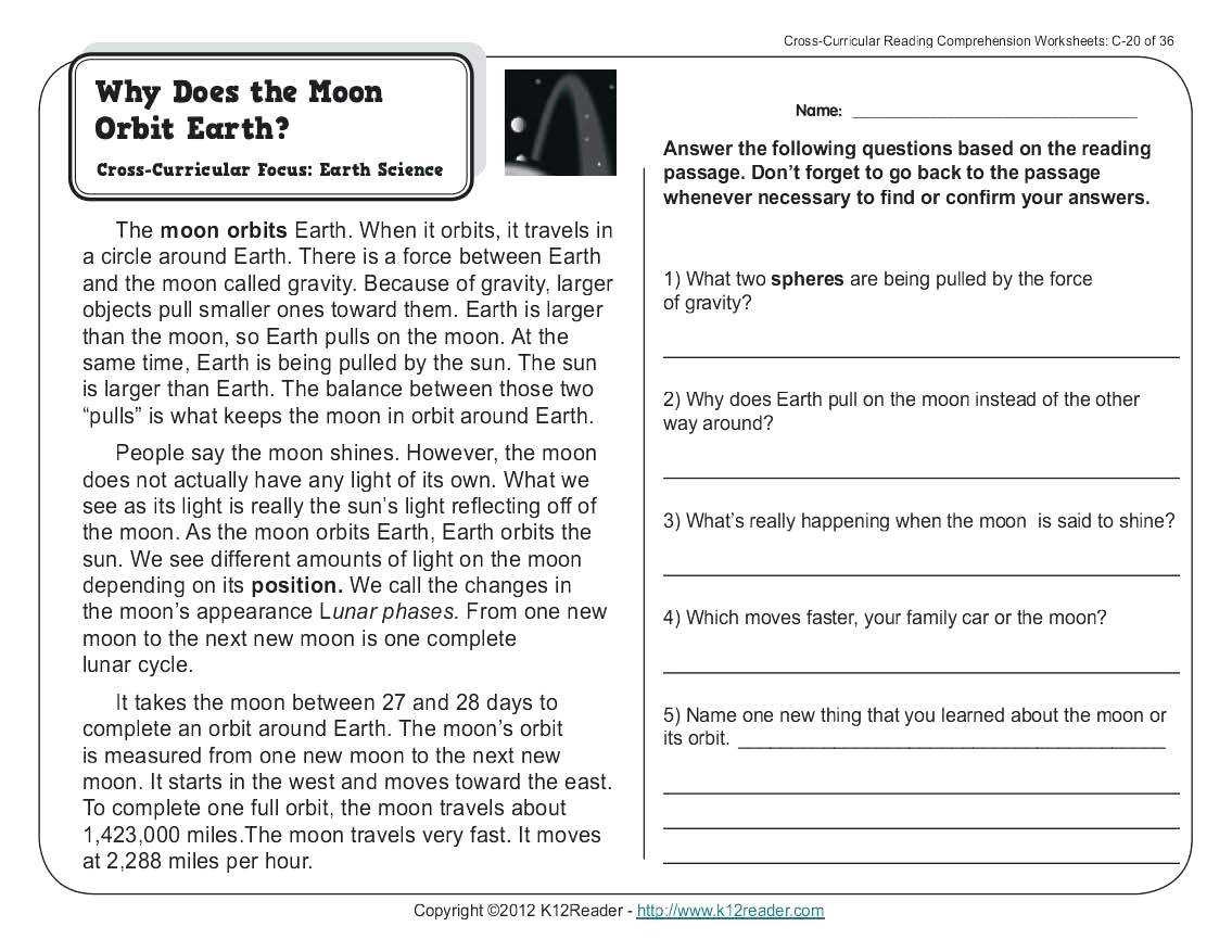 6Th Grade Reading Comprehension Worksheets Pdf | db-excel.com