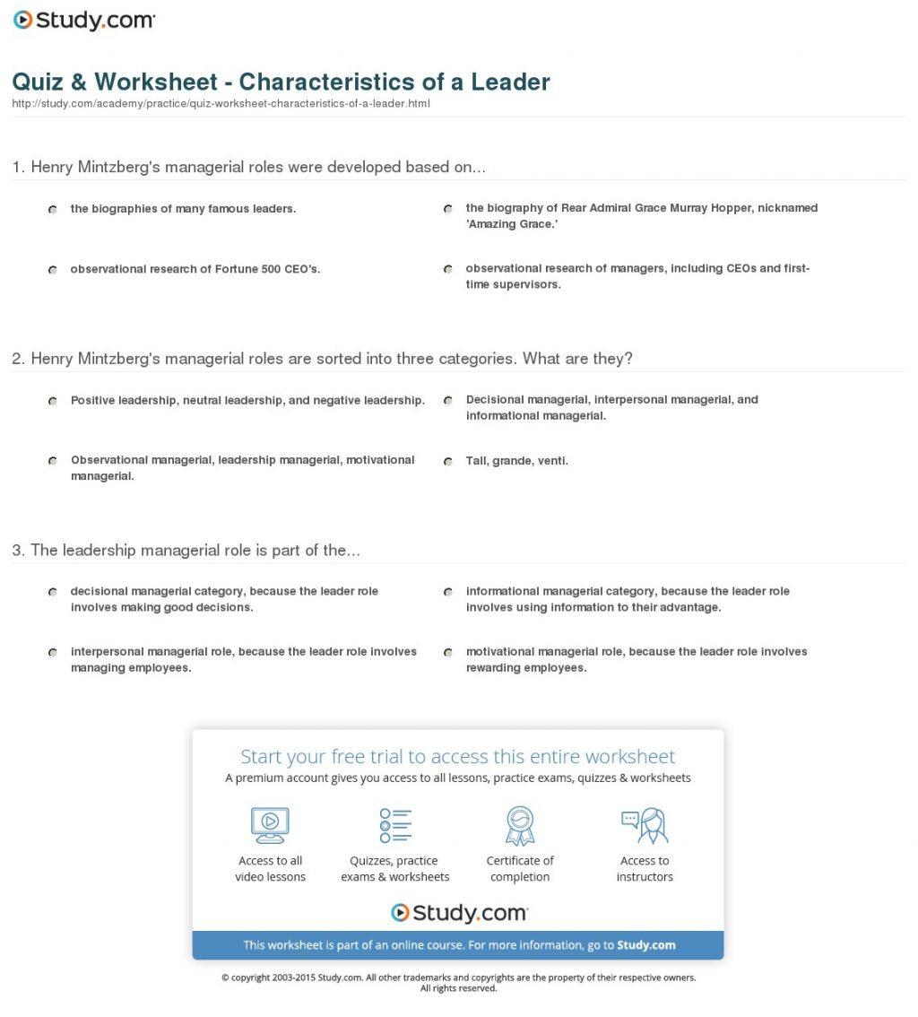 Worksheet Ideas  English Worksheets What Is Leadership