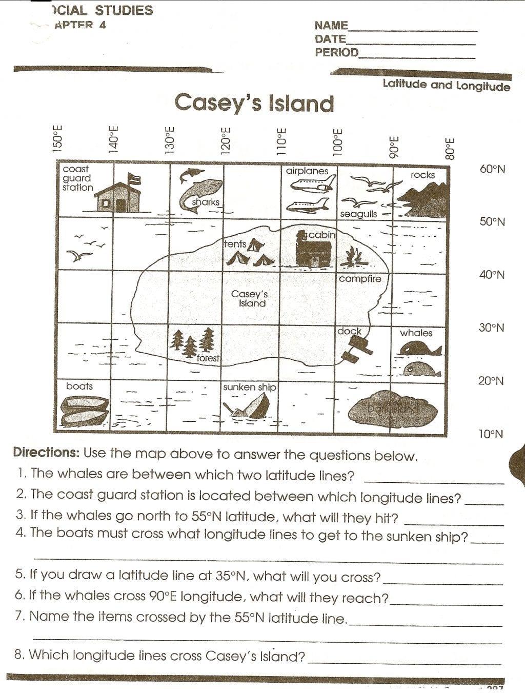Worksheet Ideas Reading Maps Handout 2 Social Studies — db ...