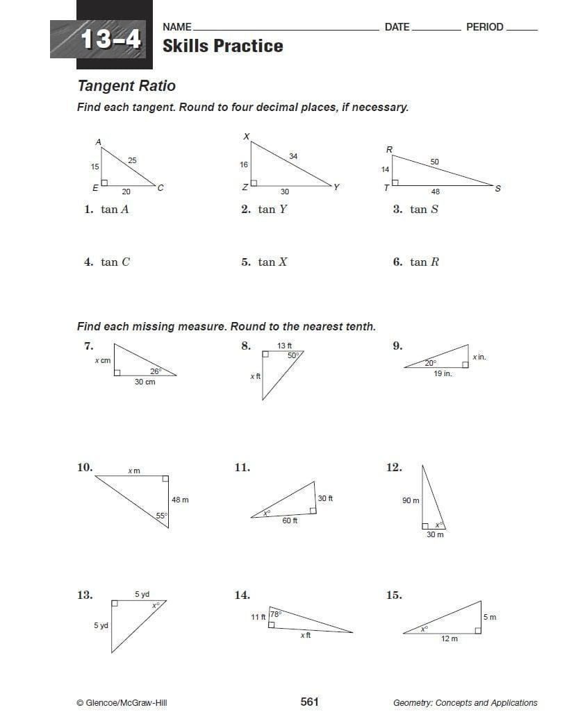 Review Trigonometry Worksheet — db excel.com