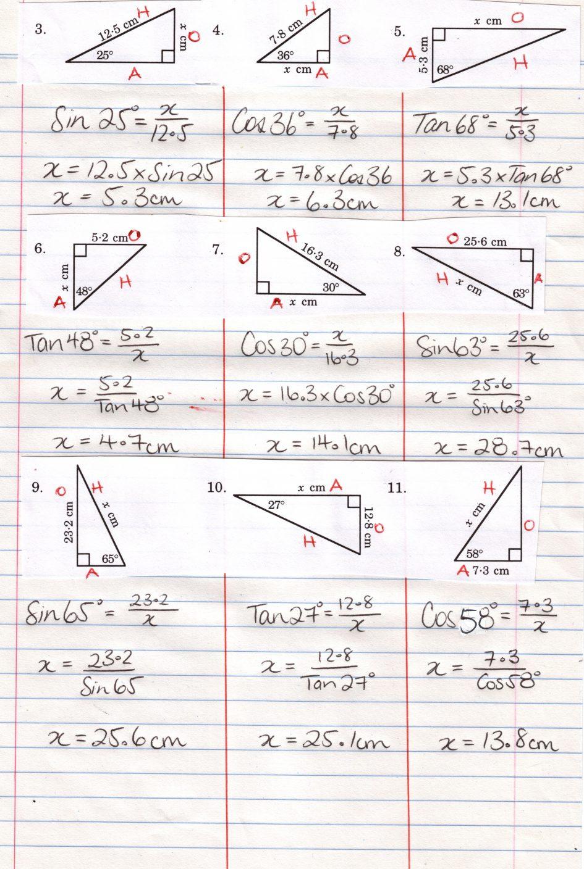 Worksheet Trigonometric Ratios Worksheet Trigonometric ...
