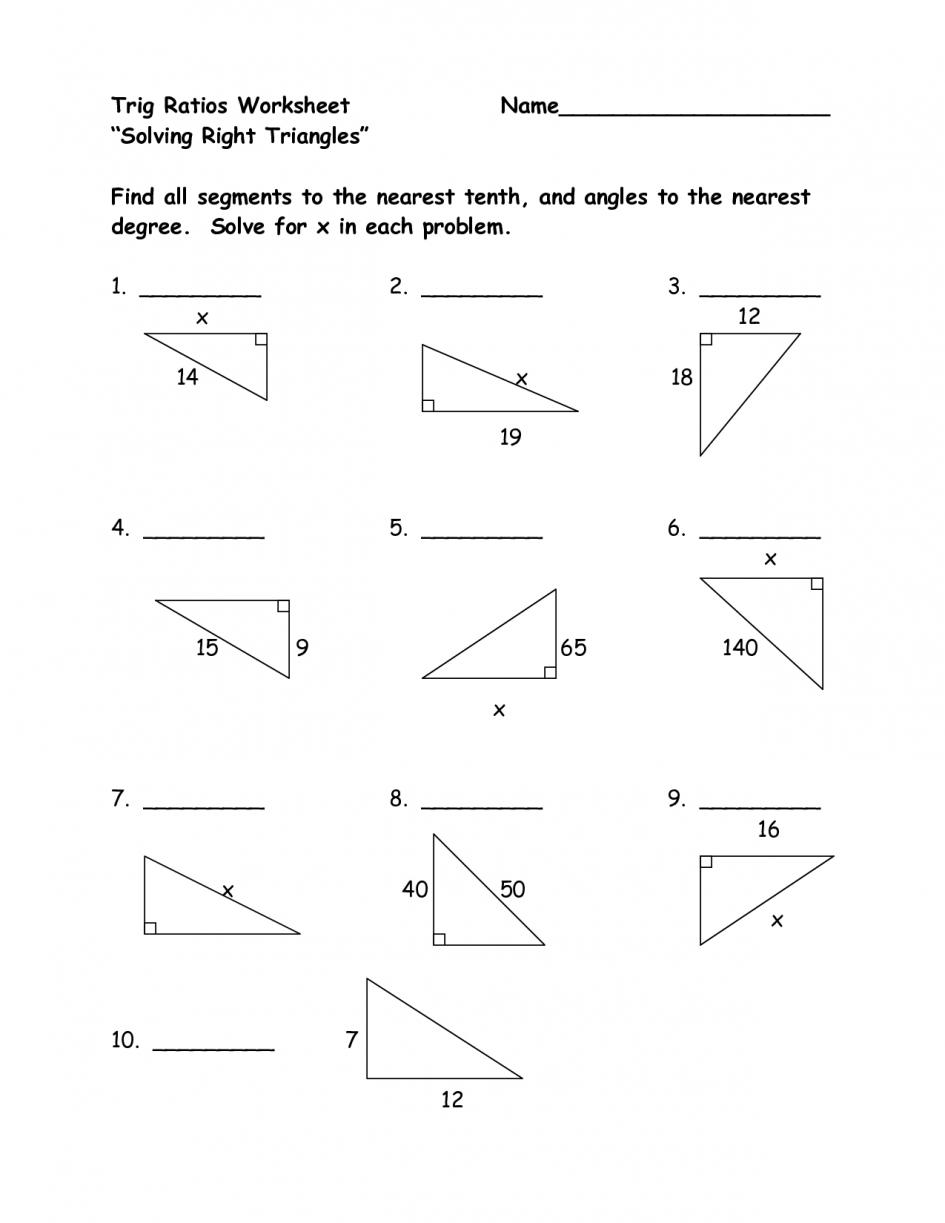 Trigonometric Ratios Worksheet Answers — db excel.com