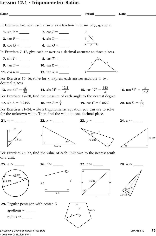 Worksheet Trigonometric Ratios Worksheet Worksheet On Trig ...