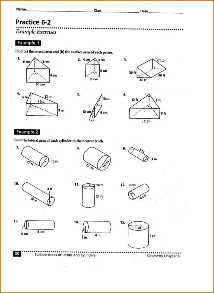Worksheet Volume Of Cylinder Worksheet Volume And Surface ...
