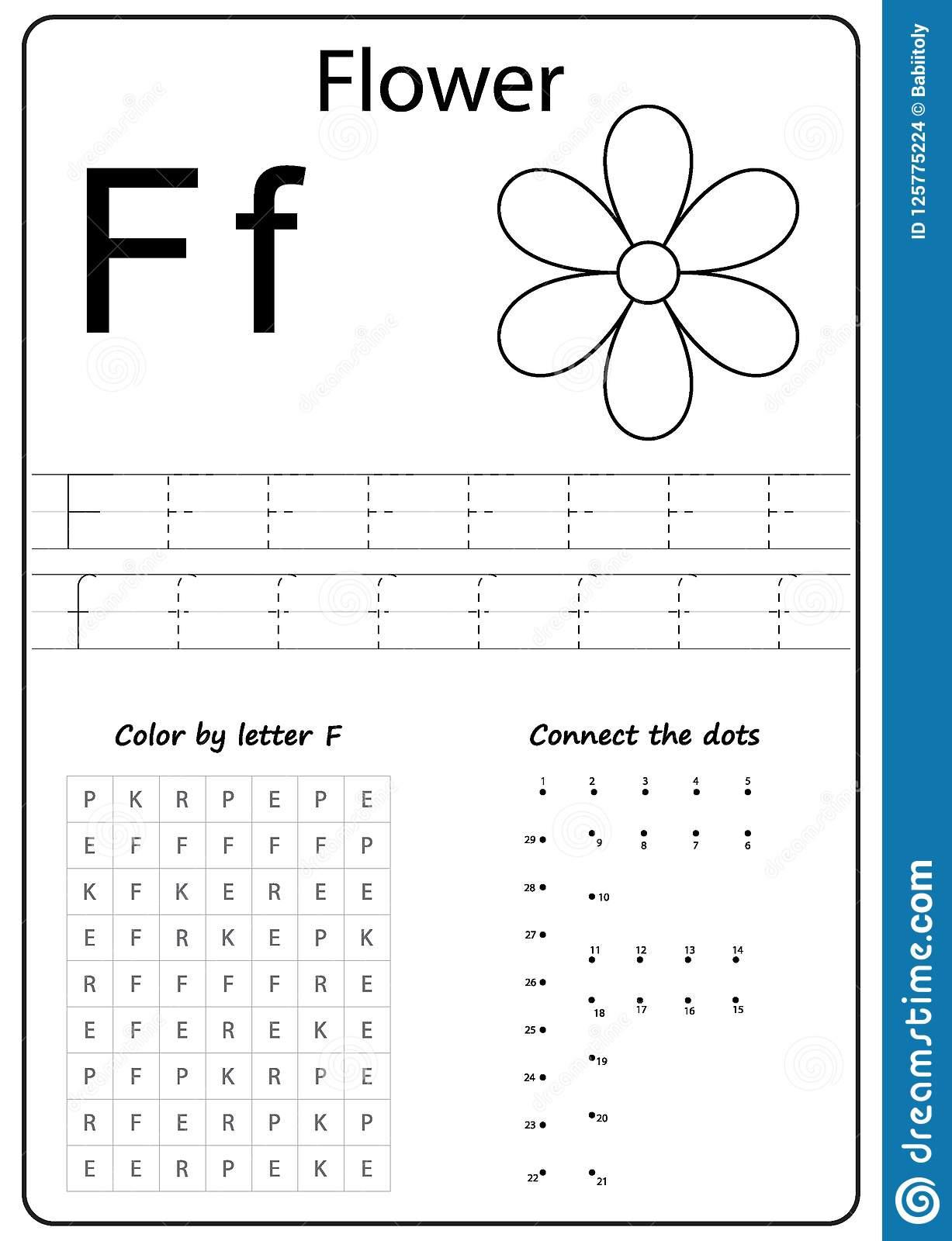 Writing Letter F Worksheet Writing Az Alphabet Exercises ...