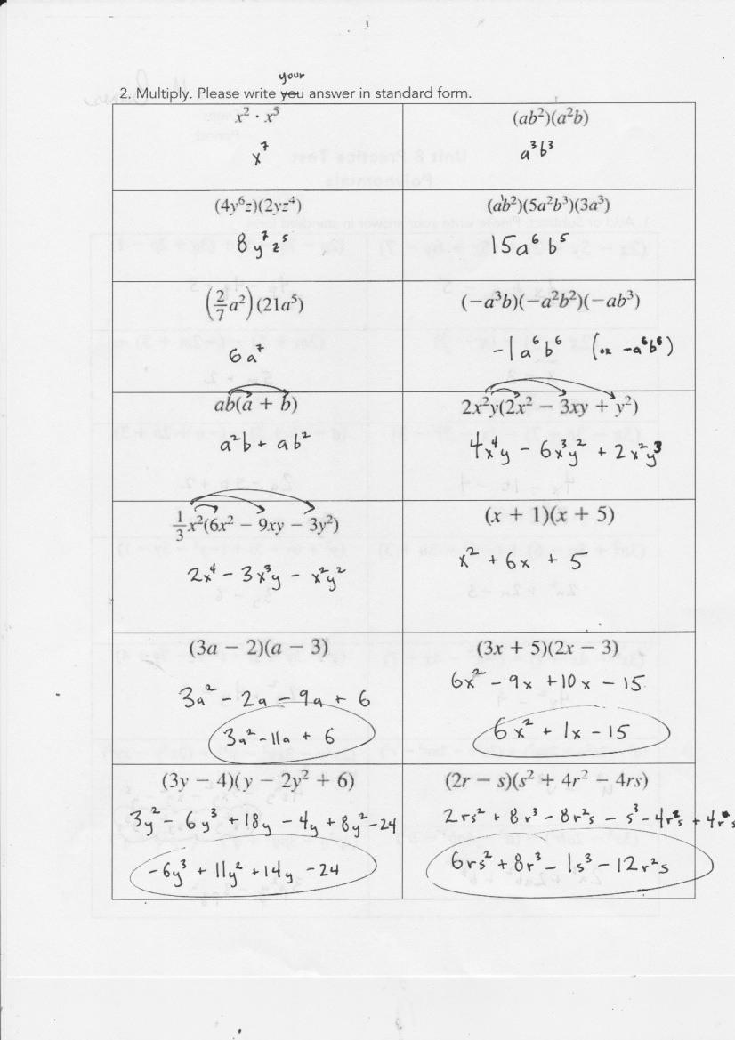 Unit 2 Worksheet 8 Factoring Polynomials Answer Key | db ...
