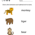 Zoo Animal Worksheet  Free Kindergarten Learning Worksheet